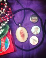Necklace & pins from Ghoul Vibrations!